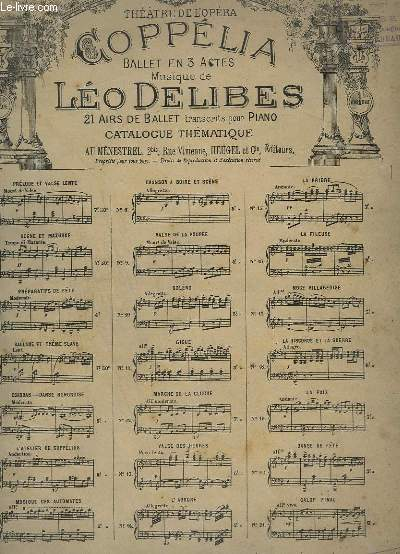 COPPELIA - N° 1 : PRELUDE ET VALSE LENTE - PIANO.
