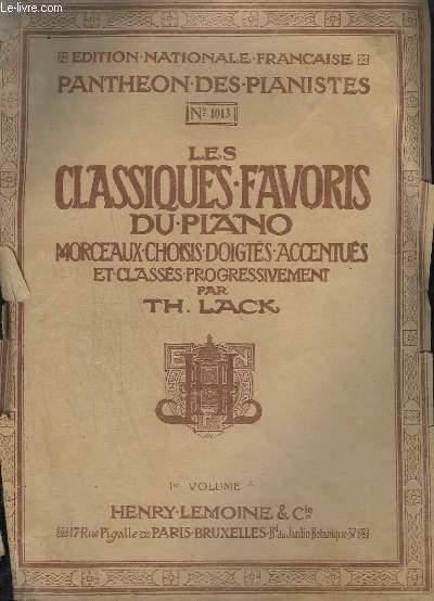 LES CLASSIQUES FAVORIS DU PIANO - N°1013 - PREMIER VOLUME A - BERNOISE + SONATINE + RONDO + ROMANCE + BAGATELLE...