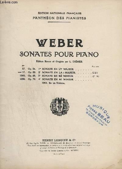 PANTHEON DES PIANISTES - N° 17 : OP.39 : 2° SONATE EN LA B MAJEUR.