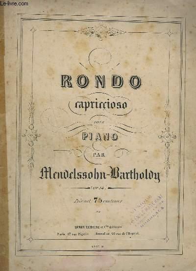 RONDO CAPRICIOSO POUR PIANO - OP.14.