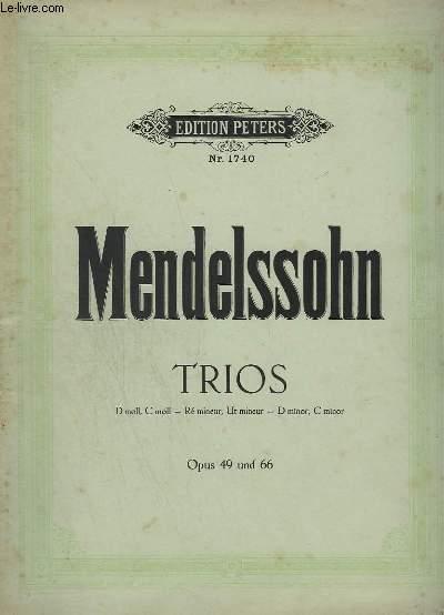 TRIOS - OPUS 49 UND 66 - N°1740 - PIANO + VIOLON + VIOLONCELLE.