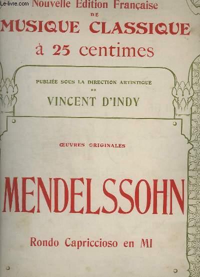 RONDO CAPRICCIOSO EN MI - OEUVRES ORIGINALES - N° 54 OP.14.