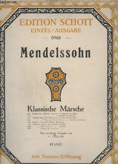KLASSISCHE MÄRSCHE - N°0568 : OP.61 N°4 : HOCHZEITS-MARSCH - PIANO.