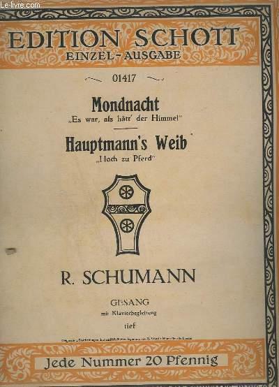 MONDNACHT + HAUPTMANN'S WEIB - GESAND MIT KLAVIERBEGLEITUNG.