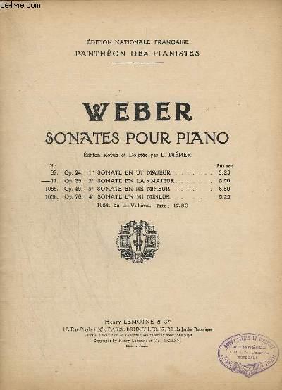 PANTHEON DES PIANISTES - N°4 ( DE M - Z ) : MUSIQUE DE PIANO - SONATES POUR PIANO - N° 17 : OP.39 - 2° SONATE EN LA B MAJEUR.