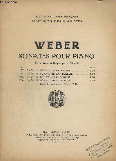 PANTHEON DES PIANISTES - N°2 ( DE C - E ) : MUSIQUE DE PIANO - SONATES POUR PIANO - N° 17 : OP.39 - 2° SONATE EN LA B MAJEUR.