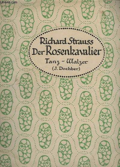 DER ROSENKAVALIER - TANZ-WALZER - PIANO.