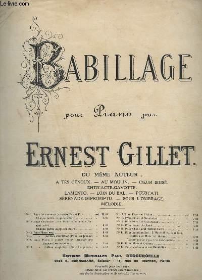 BABILLAGE POUR PIANO - N°3 : POUR PIANO SEUL.