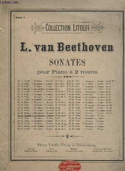 SONATES POUR PIANO A 2 MAINS - N°14 : CIS MOLL / UT # MINEUR + C # MINOR OP.27 N°2 - BAND 1.