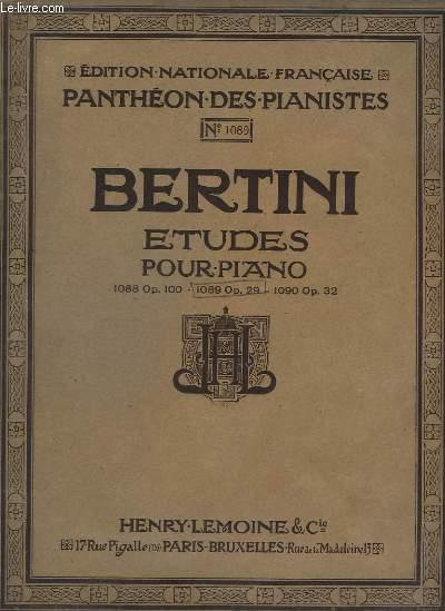 ETUDES POUR PIANO - N°1089 OP.29 - 25 ETUDES INTRODUCTION A CELLES DE CRAMER.