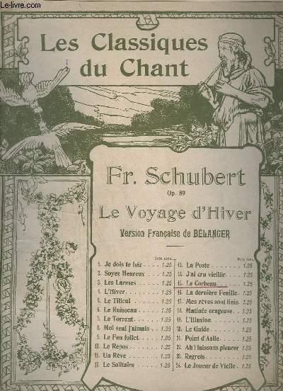 LE VOYAGE D'HIVER - N°15 : LE CORBEAU - OP.89 - PIANO.