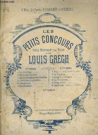 LES PETITS CONCOURS - PETITS MORCEAUX POUR PIANO - 1° SERIE - N°2 : MENUET FAVORI POUR PIANO.