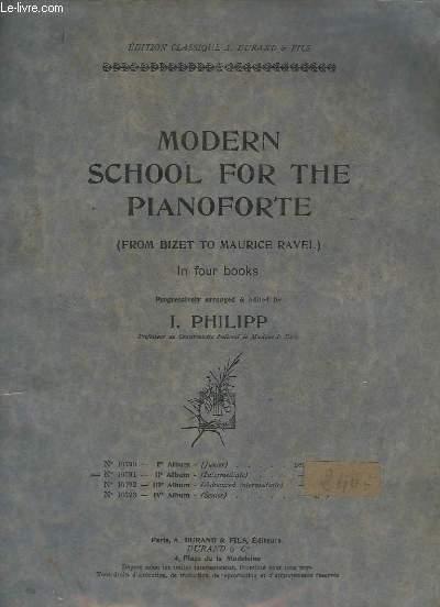 MODERN SCHOOL FOR THE PIANOFORTE - IN FOUR BOOKS - 2° ALBUM - N°10791 - INTERMEDIATE.- TOCCATINA + RONDE FRANCAISE + BARCAROLLE VENITIENNE + ELFE + TROISIEME VALSE + EN GONDOLE + BARCAROLLE NOCTURNE + CHANSON NAPOLITAINE + EVOCATION + EGLOGUE.