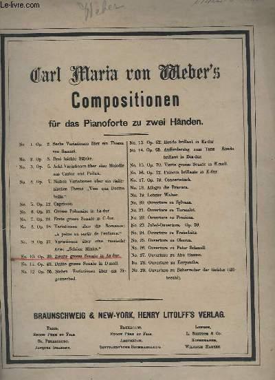COMPOSITIONEN FÜR DAS PIANOFORTE ZU ZWEI HÄNDEN - N°10 - OP.39 - ZWEITE GROSSE SONATE IN AS DUR.