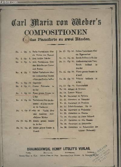 COMPOSITIONEN FÜR DAS PIANOFORTE ZU ZWEI HÄNDEN - N°7 - OP.24 - ERSTE GROSSE SONATE IN C DUR.