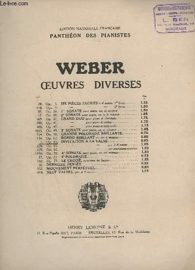 OEUVRES DIVERSES N°1 - OP.65 - INVITATION A LA VALSE - PANTHEON DES PIANISTES.