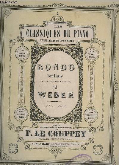 RONDO BRILLANT EN MI BEMOL MAJEUR - OP.62 - PIANO.