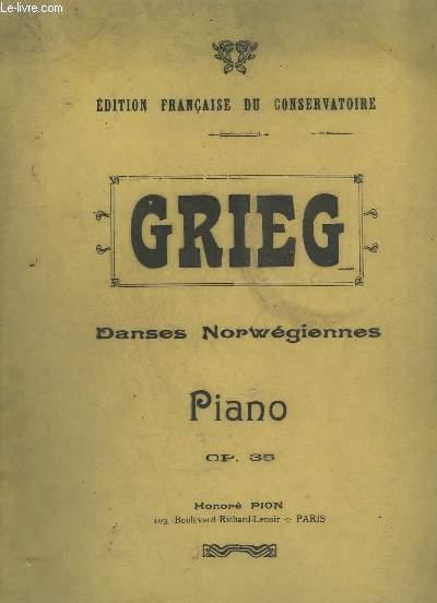 DANSES NORWEGIENNES / NORWEGISCHE TÄNZE / NORWEGIAN DANCES - PIANO - OP.35.