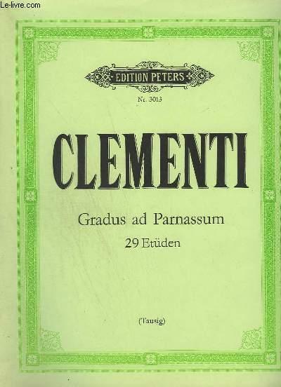 GRADUS AD PARNASSUM - 29 ETÜDEN - N°3013.