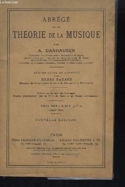ABREGE DE LA THEORIE DE LA MUSIQUE.