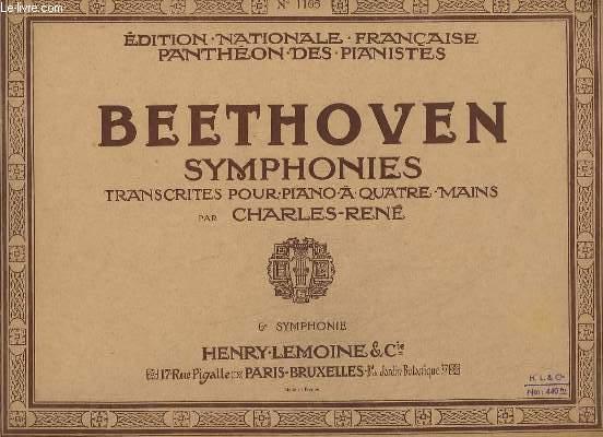 SYMPHONIES - 6° SYMPHONIE - POUR PIANO - N°1165.
