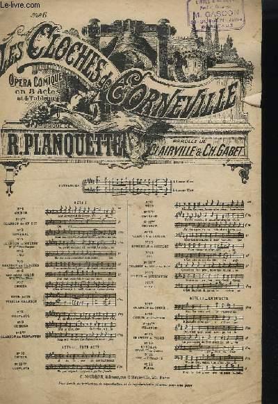 LES CLOCHES DE CORNEVILLE - OPERA COMIQUE EN 3 ACTES - N° 6 : RONDEAU VALSE.