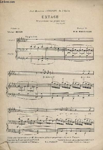 EXTASE + ELEGIE + CHANSON D'AMOUR + CHANSON TRISTE + HARMONIE DU SOIR + LE RHIN + LA FORET CHARMEE + DORMIR + BERNADETTE + PETITES LITANIES DE JESUS ...- PIANO ET CHANT.