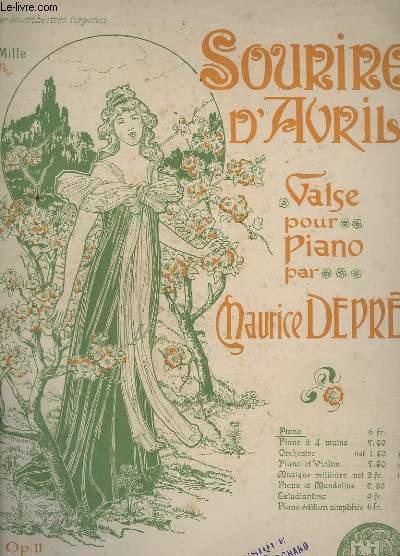 SOURIRE D'AVRIL - VALSE POUR PIANO - OP.11.