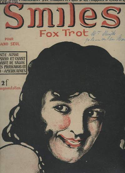 SMILES - FOX-TROT POUR PIANO.