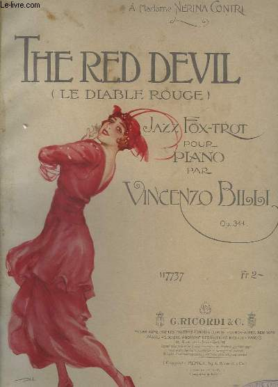 THE RED DEVIL / LE DIABLE ROUGE - OP.344 - JAZZ FOX-TROT.