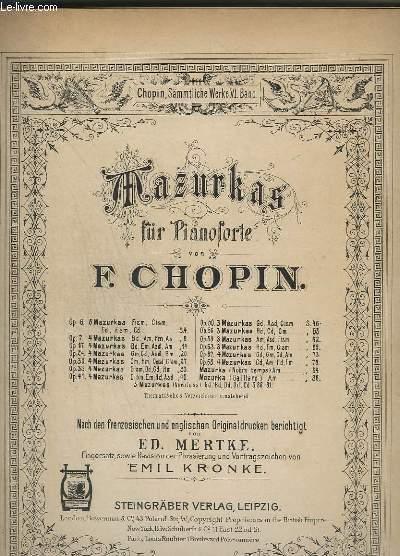 MAZURKAS - FÜR PIANOFORTE.