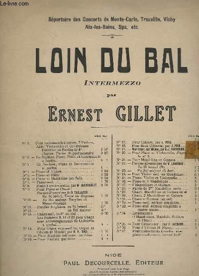 LOIN DU BAL - INTERMEZZO POUR PIANO.