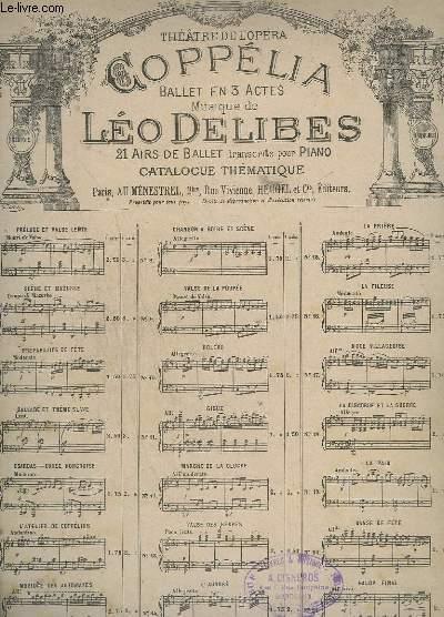 COPPELIA - N°1 : PRELUDE ET VALSE LENTE - POUR PIANO.