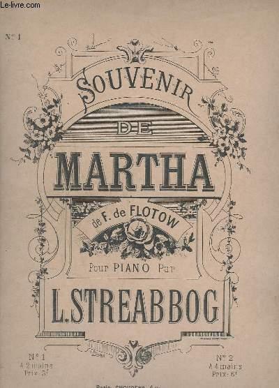 SOUVENIR DE MARTHA - N°1 : POUR PIANO A 2 MAINS.