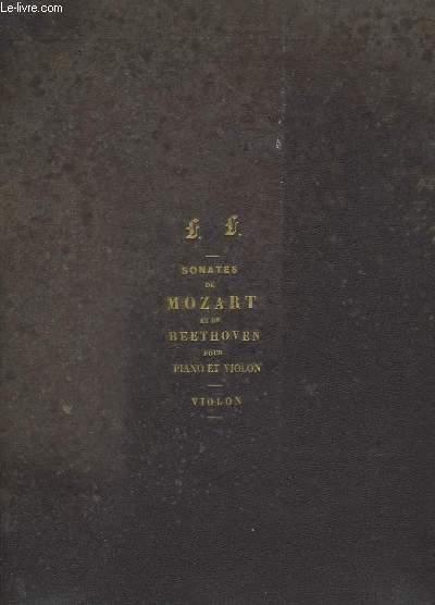 SONATES DE MOZART ET DE BEETHOVEN POUR PIANO ET VIOLON - VOLUME POUR VIOLON 1 - SONATES.