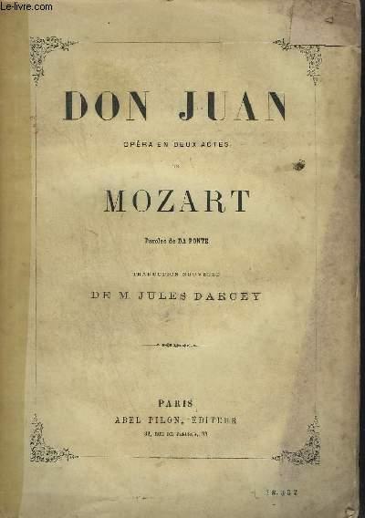 DON JUAN - OPERA EN 2 ACTES.