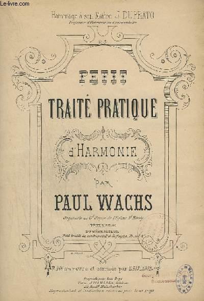 PETIT TRAITE PRATIQUE - D'HARMONIE.
