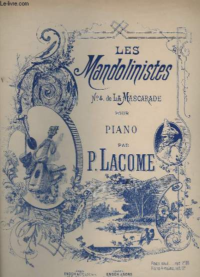 LES MANDOLINISTES - N°4  DE LA MASCARADE POUR PIANO.