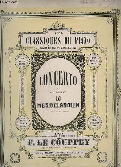 CONCERTO EN SOL MINEUR - FRAMENT ARRANGE POUR PIANO SEUL PAR F. LE COUPPEY - OP.25.