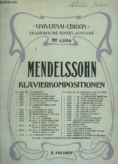 KLAVIERKOMPOSITIONEN - N°4306 : CAPRICCIO BRILLANTE H MOLL - OP.22.