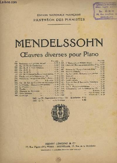 PANTHEON DES PIANISTES - N° 12 : RONDO CAPRICCIOSO - OP.14.
