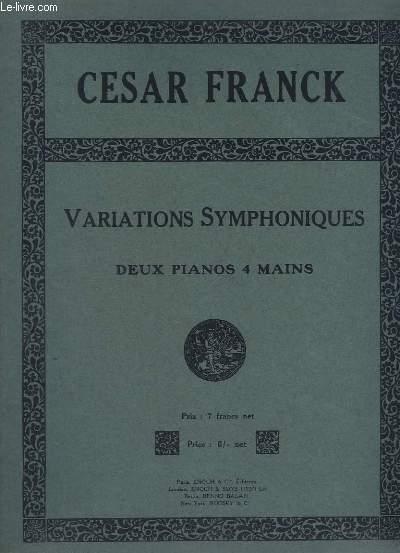 VARIATIONS SYMPHONIQUES - DEUX PIANOS 4 MAINS - POUR PIANO ET ORCHESTRE.
