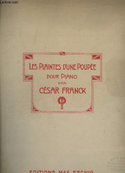LES PLAINTES D'UNE POUPEE - POUR PIANO.