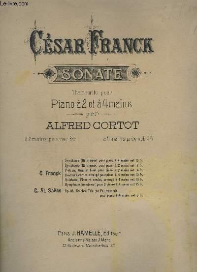 SONATE POUR PIANO.
