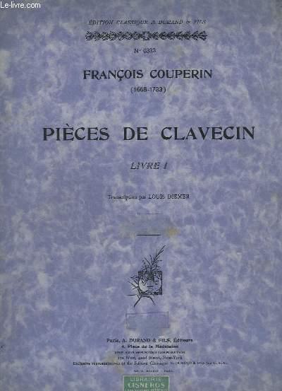 PIECES DE CLAVECIN - LIVRE1 - N°6333.