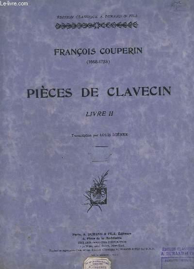 PIECES DE CLAVECIN - LIVRE 2.