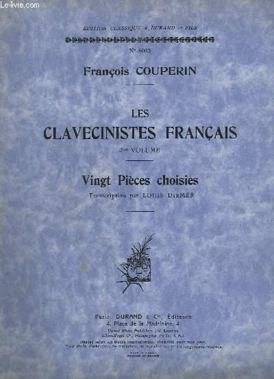 LES CLAVECINISTES FRANCAIS - VOLUME 3 - 20 PIECES CHOISIES - N°8083.