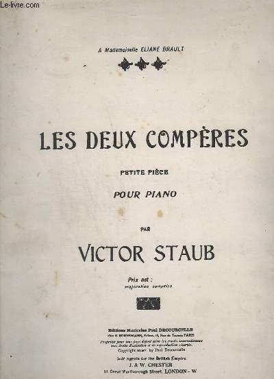LES DEUX COMPERES - PETITE PIECE POUR PIANO.