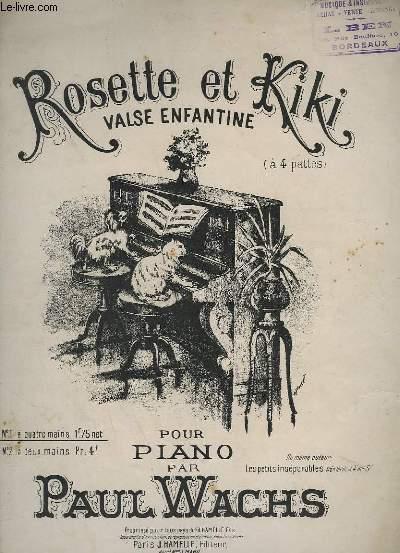 ROSETTE ET KIKI - POUR PIANO A 4 MAINS.