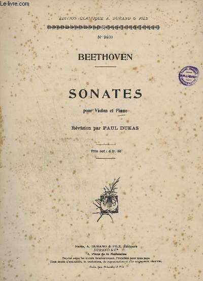 SONATES POUR VIOLON ET PIANO.